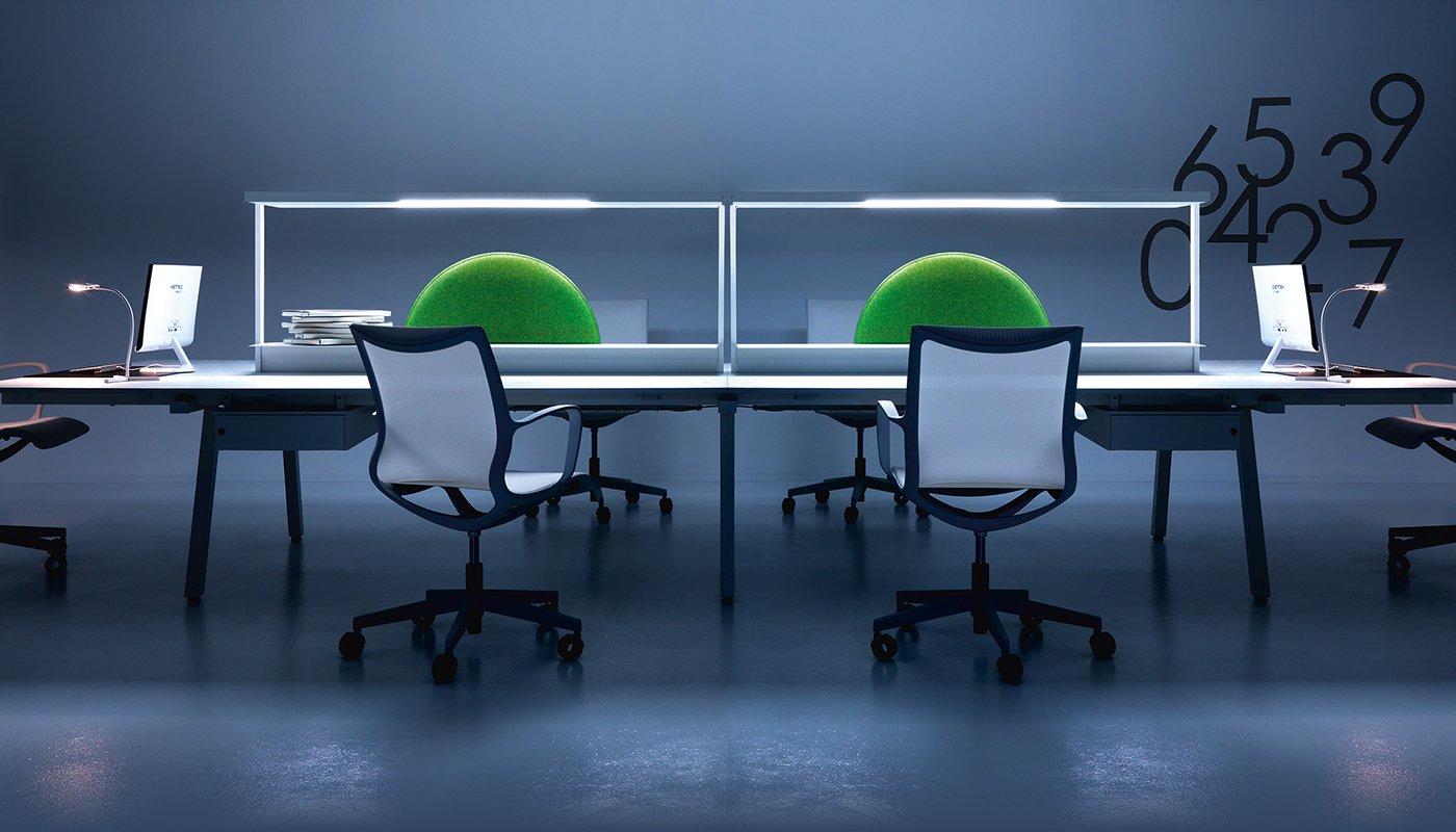 illuminazione per ufficio